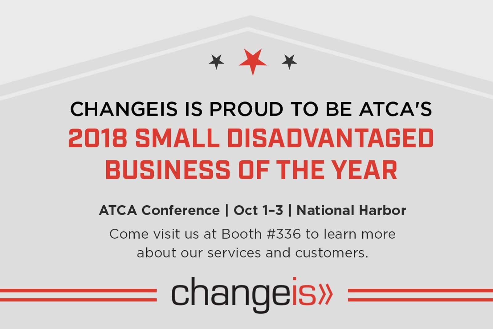 Changeis is 2018 Small Disadvantaged Business of the Year