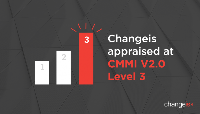 Changeis Appraised at CMMI V2.0 Level 3
